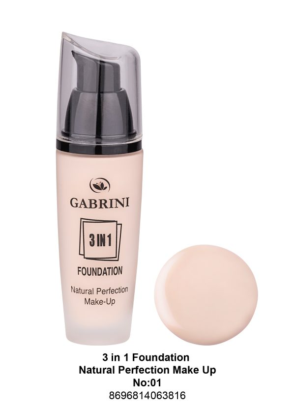 3 In 1 Foundation (Natural Perfection Makeup) # 01
